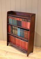 Small Graduated Open Oak Bookcase (9 of 10)