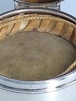 Tortoiseshell Silver Hinged Round Box (3 of 6)