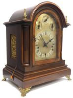 Mahogany & Bevelled Glass W&H Mantel Clock Dual Chiming Musical Bracket Clock Chiming on 9 Coiled Gongs (3 of 17)