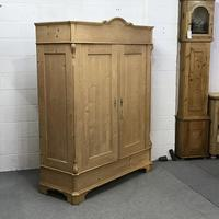 Large Old Pine Arched Wardrobe - Dismantles (3 of 5)