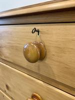 Antique Victorian Pine Chest of Drawers with Key (9 of 15)