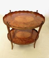 George III Two Tier Inlaid Mahogany Table (11 of 11)