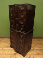 Antique Reproduction Serpentine Chest of Drawers, Chest on Chest by Hekman USA (7 of 17)