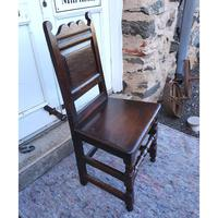Good 17th Century Oak Hall Chair (3 of 6)