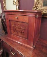 Antique Walnut Three Drawer Filing Cabinet (8 of 8)