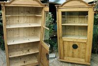 Gorgeous! Old Victorian Glazed Pine Cupboard / Display Cabinet - We Deliver!
