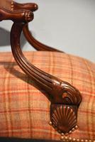 George I Style Walnut Gainsborough Armchair (4 of 8)