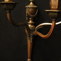 English Pair of Bronze Antique Wall Lights (3 of 10)
