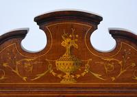 Edwardian Mahogany & Marquetry Writing Table by Jas Shoolbred (4 of 18)