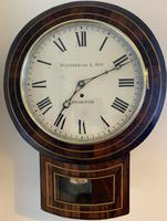 Rosewood Late Victorian Fusee Timepiece (8 of 11)