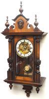 Fantastic Rare Victorian 8-day Wall Clock – Small Antique Striking Vienna Wall Clock (2 of 17)