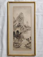 Three Japanese original ink/ watercolour lanscape paintings circa mid. 20th Century (2 of 20)