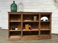 Oak Breakfront Open Bookcase (2 of 20)