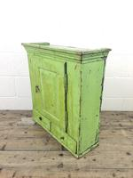 Rustic Antique Green Painted Wall Cupboard (10 of 11)