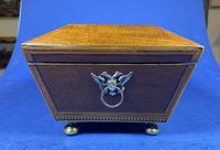 Regency Sarcophagus Mahogany Box with Shell Inlay. (10 of 12)
