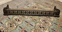 Victorian Arts & Crafts Cast Iron Fender Decorated with Sun Flowers (2 of 5)