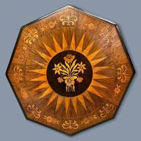 Rosewood Marquetry Sunburst Inlaid Side Table (3 of 7)