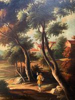 Substantial! Original Italian Landscape Oil by Follower of 17th Century Gaspard Dughet (3 of 15)