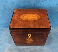 18th Century Harewood Inlaid Single Mahogany Tea Caddy (2 of 18)