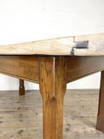 Antique Oak Scrub Top Kitchen Table (4 of 11)