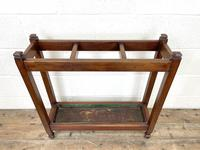 Antique Mahogany Three Section Stick Stand (5 of 8)