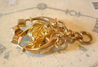Victorian Pocket Watch Chain Horse & Pony Fob 1890s 10ct Rose Gold Filled Equestrian Fob (7 of 9)