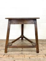 Traditional Style Oak Cricket Table (7 of 10)