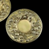 Magnificent Georgian Pair of Solid Silver Gilt Charger / Platter Dishes - George Burrows 1824 (5 of 27)