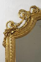 19th Century Gilt Overmantle Mirror with Putto Cresting (5 of 12)