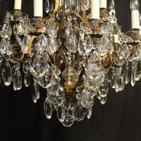 French Gilded Bronze 17 Light Antique Chandelier (5 of 10)