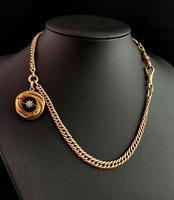 Victorian Agate Snake Pendant, Pinchbeck Albert Chain (11 of 12)