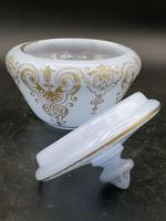 Antique Opaline Glass Covered Bowl / Bombonierre for Turkish Market / Persian Market (2 of 3)
