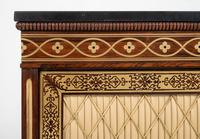 Amazing Rosewood and brass inlaid side cabinet (3 of 9)