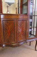 Antique Quality Shaped Mahogany Mirror Back Display Cabinet (3 of 7)