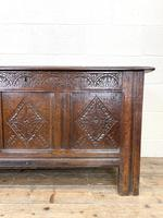 18th Century Carved Oak Coffer (2 of 10)