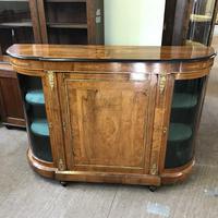 Good Walnut Inlaid Credenza Side Cabinet (5 of 6)