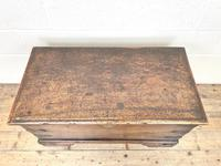 Antique Mahogany Metal Bound Trunk with Wheels (3 of 10)