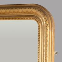 English 19th Century Gilt Framed Overmantle Mirror (2 of 3)