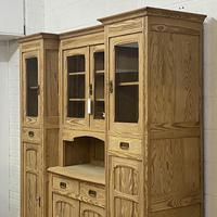 Very large antique dresser with glazed display cupboards (9 of 9)