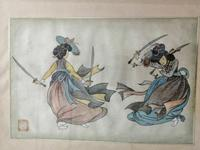 Lovely 19th Century Chinese Watercolour (3 of 6)