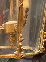 Pair of Decorative Triple Light French Antique Lanterns (8 of 9)