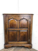 Early 20th Century Oak Corner Cupboard (3 of 8)