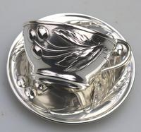 Eduard Friedman - Extremely Rare 800 Solid Silver Vienna Cup & Saucer 1900 (5 of 15)