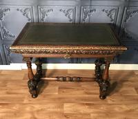 Victorian Carved Oak Library Table
