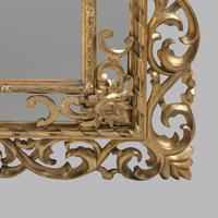 Large 19th Century Carved Giltwood Marginal Overmantle Mirror (3 of 16)