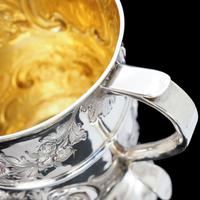 Georgian Solid Silver Loving Cup / Two Handled Cup - London 1748 (21 of 28)