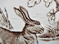 Wedgwood 8 inch tile with running Hare, 1876 (3 of 3)