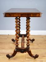 19th Century Victorian Burr Walnut Centre Table (7 of 10)