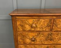 Victorian Burr Walnut Chest of Drawers (3 of 13)