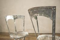 Charming Pair of Small French Metal Garden Chairs (8 of 13)